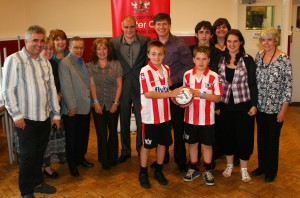 Match ball Sponsors Martins Cleaning Services and Guests