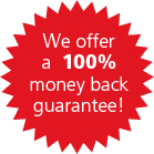 We offer a money back guarantee,