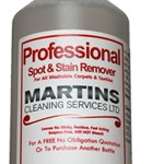 Professional spot and stain remover for carpets