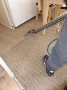 Deep soiled carpets, carpet cleaning removes contaminates and soiling